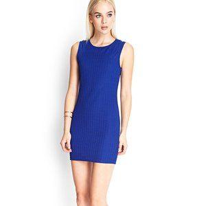 Forever 21 Blue Sleeveless Shift Bodycon Dress